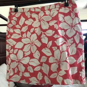 Old Navy Salmon stretch floral flirty skirt, sz 16